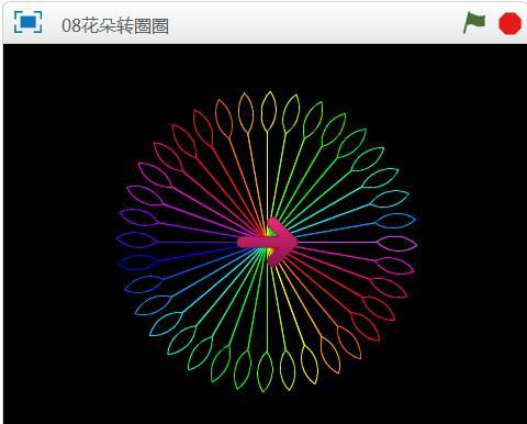 08花朵转圈圈